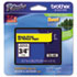 "<strong>Brother P-Touch®</strong><br />TZe Standard Adhesive Laminated Labeling Tape, 0.7"" x 26.2 ft, Black on Yellow"