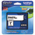 "<strong>Brother P-Touch®</strong><br />TZe Standard Adhesive Laminated Labeling Tape, 0.94"" x 26.2 ft, Black on White"