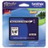 "<strong>Brother P-Touch®</strong><br />TZe Standard Adhesive Laminated Labeling Tape, 0.23"" x 26.2 ft, Black on White"