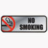 <strong>COSCO</strong><br />Brush Metal Office Sign, No Smoking, 9 x 3, Silver/Red