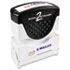 <strong>ACCUSTAMP2®</strong><br />Pre-Inked Shutter Stamp, Red/Blue, EMAILED, 1 5/8 x 1/2