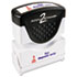 <strong>ACCUSTAMP2®</strong><br />Pre-Inked Shutter Stamp, Red/Blue, FOR DEPOSIT ONLY, 1 5/8 x 1/2