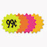 """<strong>COSCO</strong><br />Die Cut Paper Signs, 4"""" Round, Assorted Colors, Pack of 60 Each"""