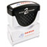 <strong>ACCUSTAMP2®</strong><br />Pre-Inked Shutter Stamp, Red/Blue, FAXED, 1 5/8 x 1/2