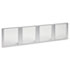 """<strong>Alera®</strong><br />Glass Door Set With Silver Frame For 72"""" Wide Hutch, 17w x 16h, Clear, 4 Doors/Set"""