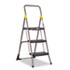 <strong>Cosco®</strong><br />Commercial 3-Step Folding Stool, 300 lb Capacity, 20.5w x 32.63d x 52.13h, Gray