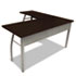 <strong>Linea Italia®</strong><br />Trento Line L-Shaped Desk, 59.13w x 59.13d x 29.5h, Mocha/Gray