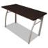 <strong>Linea Italia®</strong><br />Trento Line Rectangular Desk, 47.25w x 23.63d x 29.5h, Mocha/Gray