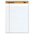 """""""The Legal Pad"""" Ruled Perforated Pads, Legal/Wide, 8 1/2 x 11 3/4, White, Dozen"""