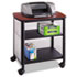 <strong>Safco®</strong><br />Impromptu Machine Stand, One-Shelf, 26.25w x 21d x 26.5h, Black/Cherry