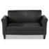 <strong>Alera®</strong><br />Alera Reception Lounge Furniture, Loveseat, 55.5w x 31.5d x 32h, Black