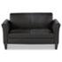 <strong>Alera®</strong><br />Alera Reception Lounge Furniture, Loveseat, 55.5w x 31.5d x 32h, Black
