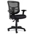<strong>Alera®</strong><br />Alera Elusion Series Mesh Mid-Back Swivel/Tilt Chair, Supports up to 275 lbs., Black Seat/Black Back, Black Base