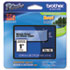 "<strong>Brother P-Touch®</strong><br />TZe Standard Adhesive Laminated Labeling Tape, 0.94"" x 26.2 ft, Black on Clear"