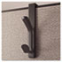 Recycled Cubicle Double Coat Hook, Plastic, Charcoal