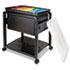 <strong>Advantus</strong><br />Folding Mobile File Cart, 14.5w x 18.5d x 21.75h, Clear/Black