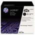 <strong>HP</strong><br />HP 42X, (Q5942X-D) 2-pack High Yield Black Original LaserJet Toner Cartridges