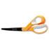 "<strong>Fiskars®</strong><br />Premier Non-Stick Titanium Softgrip Scissors, 8"" Long, 3.1"" Cut Length, Orange/Gray Offset Handle"