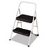 <strong>Cosco®</strong><br />2-Step Folding Steel Step Stool, 200 lb Capacity, 17.38w x 18d x 28.13h, Cool Gray
