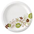 "<strong>Dixie®</strong><br />Pathways Soak-Proof Shield Mediumweight Paper Plates, 6 7/8"", Grn/Burg, 500/Ct"