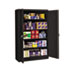 <strong>Tennsco</strong><br />Assembled Jumbo Steel Storage Cabinet, 48w x 24d x 78h, Black