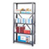 <strong>Safco®</strong><br />Commercial Steel Shelving Unit, Five-Shelf, 36w x 24d x 75h, Dark Gray