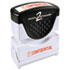 <strong>ACCUSTAMP2®</strong><br />Pre-Inked Shutter Stamp, Red, CONFIDENTIAL, 1 5/8 x 1/2