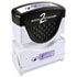 <strong>ACCUSTAMP2®</strong><br />Pre-Inked Shutter Stamp, Blue, ENTERED, 1 5/8 x 1/2
