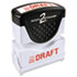 <strong>ACCUSTAMP2®</strong><br />Pre-Inked Shutter Stamp, Red, DRAFT, 1 5/8 x 1/2