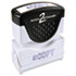 <strong>ACCUSTAMP2®</strong><br />Pre-Inked Shutter Stamp, Blue, COPY, 1 5/8 x 1/2
