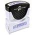 <strong>ACCUSTAMP2®</strong><br />Pre-Inked Shutter Stamp, Blue, APPROVED, 1 5/8 x 1/2