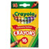 <strong>Crayola®</strong><br />Classic Color Crayons, Peggable Retail Pack, 16 Colors