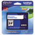 "<strong>Brother P-Touch®</strong><br />TZe Standard Adhesive Laminated Labeling Tape, 0.7"" x 26.2 ft, Blue on White"