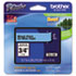 "<strong>Brother P-Touch®</strong><br />TZe Standard Adhesive Laminated Labeling Tape, 0.7"" x 26.2 ft, Black on Blue"
