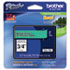 "<strong>Brother P-Touch®</strong><br />TZe Standard Adhesive Laminated Labeling Tape, 0.7"" x 26.2 ft, Black on Green"