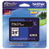 """<strong>Brother P-Touch®</strong><br />TZe Standard Adhesive Laminated Labeling Tape, 0.7"""" x 26.2 ft, White on Black"""