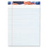American Pride Writing Pad, Legal/Wide, 8 1/2 x 11 3/4, White, 50 Sheets, Dozen