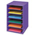 FEL3381201 - Vertical Classroom Organizer, 6 shelves, 11 7/8 x 13 1/4 x 18, Purple
