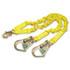 ShockWave2 Shock-Absorbing Lanyard, Steel Hooks, 900lb MAF