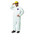 DUPTY120SL - Tyvek Coveralls, Open Wrist/Ankle, HD Polyethylene, White, Large, 25/Carton