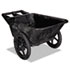<strong>Rubbermaid® Commercial</strong><br />Big Wheel Agriculture Cart, 300-lb Capacity, 32.75w x 58d x 28.25h, Black