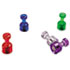 "<strong>Officemate</strong><br />Push Pin Magnets, Assorted Translucent, 3/4"" x 3/8"", 10 per Pack"