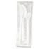 <strong>Boardwalk®</strong><br />Three-Piece Cutlery Kit, Fork/Knife/Teaspoon, Polypropylene, White, 250/Carton