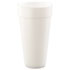 <strong>Dart®</strong><br />Foam Drink Cups, Hot/Cold, 24oz, White, 500/Carton