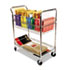 <strong>Alera®</strong><br />Carry-all Cart/Mail Cart, Two-Shelf, 34.88w x 18d x 39.5h, Silver