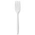 <strong>GEN</strong><br />Medium-Weight Cutlery, Fork, White, 1000/Carton