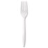 "<strong>GEN</strong><br />Wrapped Cutlery, 6 1/8"" Fork, Mediumweight, Polypropylene, White, 1,000/Carton"