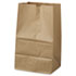"<strong>General</strong><br />Grocery Paper Bags, 40 lbs Capacity, #20 Squat, 8.25""w x 5.94""d x 13.38""h, Kraft, 500 Bags"