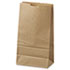 "<strong>General</strong><br />Grocery Paper Bags, 35 lbs Capacity, #6, 6""w x 3.63""d x 11.06""h, Kraft, 500 Bags"