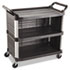 <strong>Rubbermaid® Commercial</strong><br />Xtra Utility Cart, 300-lb Capacity, Three-Shelf, 20w x 40.63d x 37.8h, Black